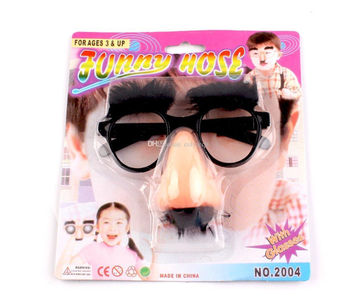 Acheter INOlite Halloween Partie Accessoire Moustache Faux Nez Sourcil  Clown Drôle Costume Accessoires Partie Verres Grand Nez Cheveux Barbe  Lunettes De ... ced307a14843