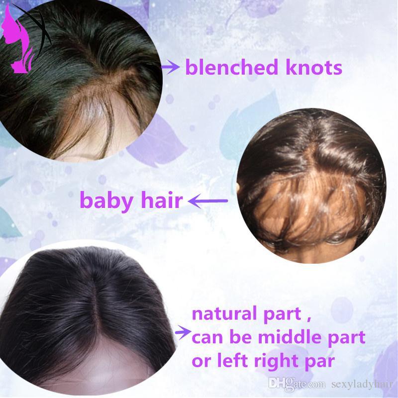 Nuevas pelucas brasileñas al por mayor de la onda del cuerpo # 1B peluca delantera del cordón llena sin pegamento sintética negra con el pelo del bebé