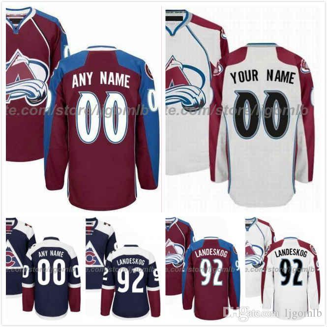cheaper c20f2 5ced7 Colin Wilson Jersey 22 Gabriel Bourque 57 Patrik Nemeth 12 J.T. Compher 37  Alexander Kerfoot 13 Mens Ice Hockey Jerseys Avalanche S-3XL
