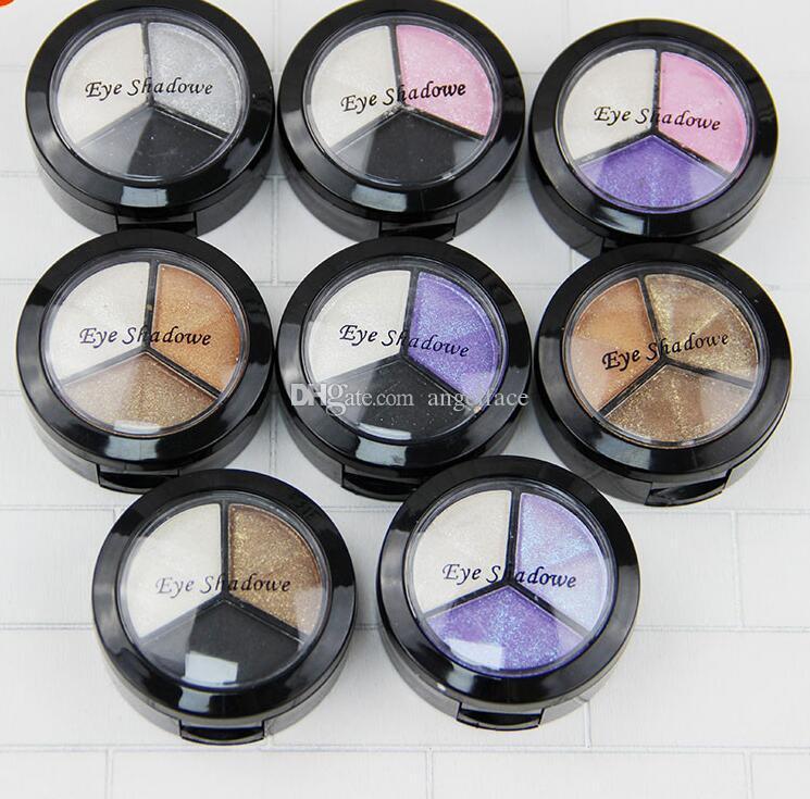 3 Renkler Glitter Göz Farı Paleti Çıplak Mat Dumanlı Göz Farı Paleti Profesyonel Marka Kadınlar Kozmetik Makyaj Seti Sıcak Satış