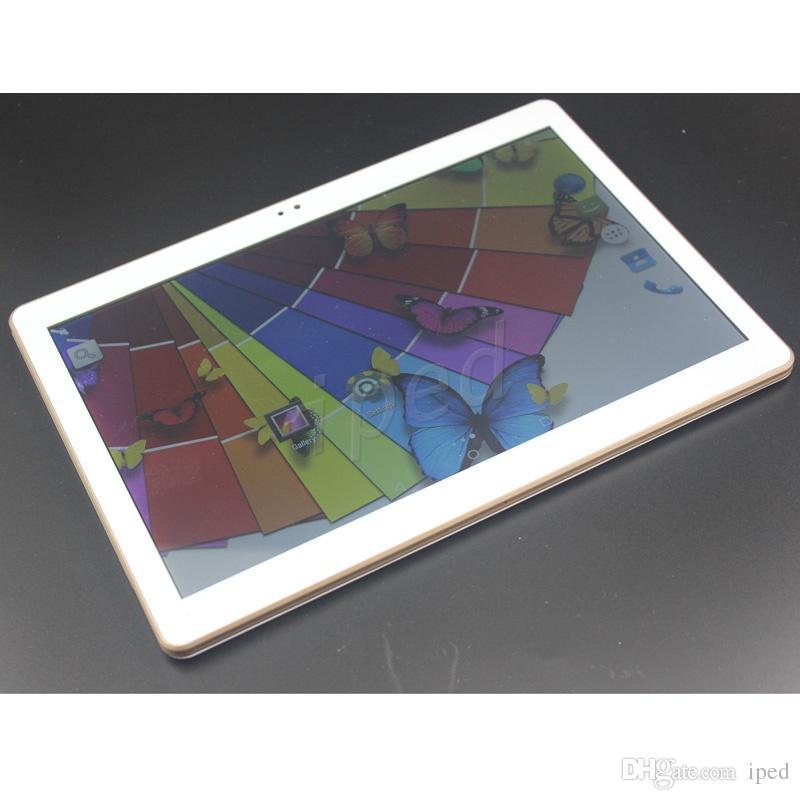 10.1 10 pulgadas quad core 3G phablet teléfono tablet PC Android 1 + 16GB 1280 * 800 Daul SIM cámara GPS BT WIFI Desbloqueado 32GB octa coreMTK8752 5 gold