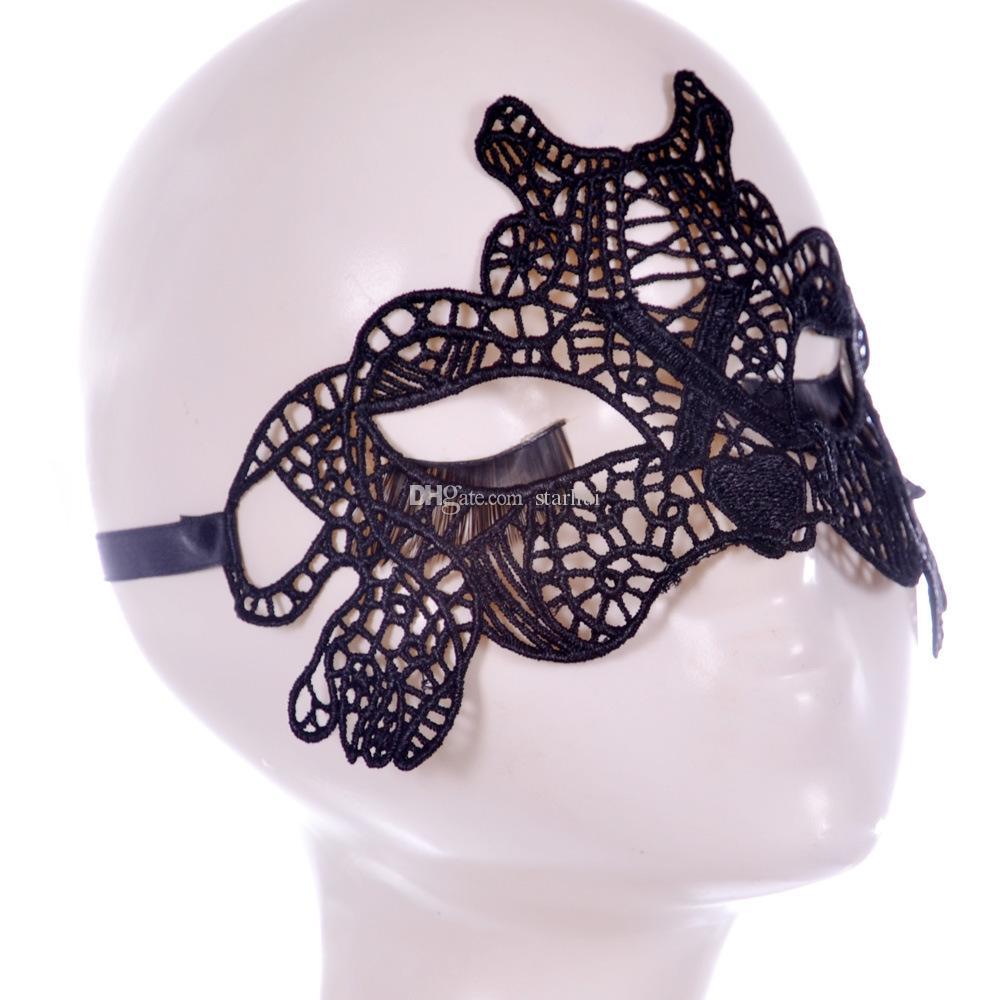 Women Girls White Lace Masks Sexy Elegant Eye Mask