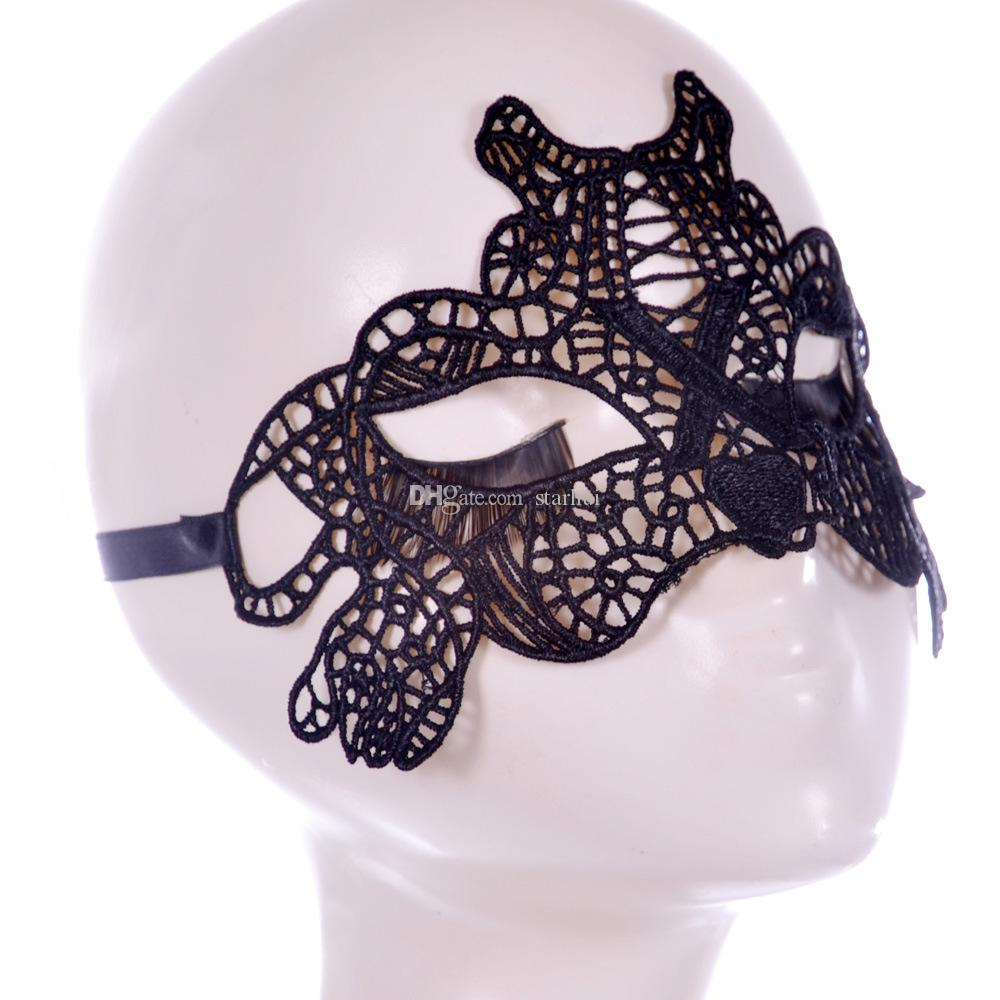 Moda Seksi Dantel Parti Maskeleri Kadınlar Bayanlar Kızlar Cadılar Bayramı Noel Cosplay Kostüm Maskeli Dans Sevgililer Yarım Yüz Maskesi WX-M03
