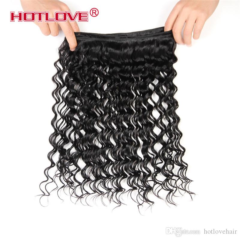 Cheap Malaysian Deep Wave Hair Malaysian Deep Curl 4/3 Bundles Extensiones de cabello humano Good Malaysian Virgin Deep Curly Hair Weave