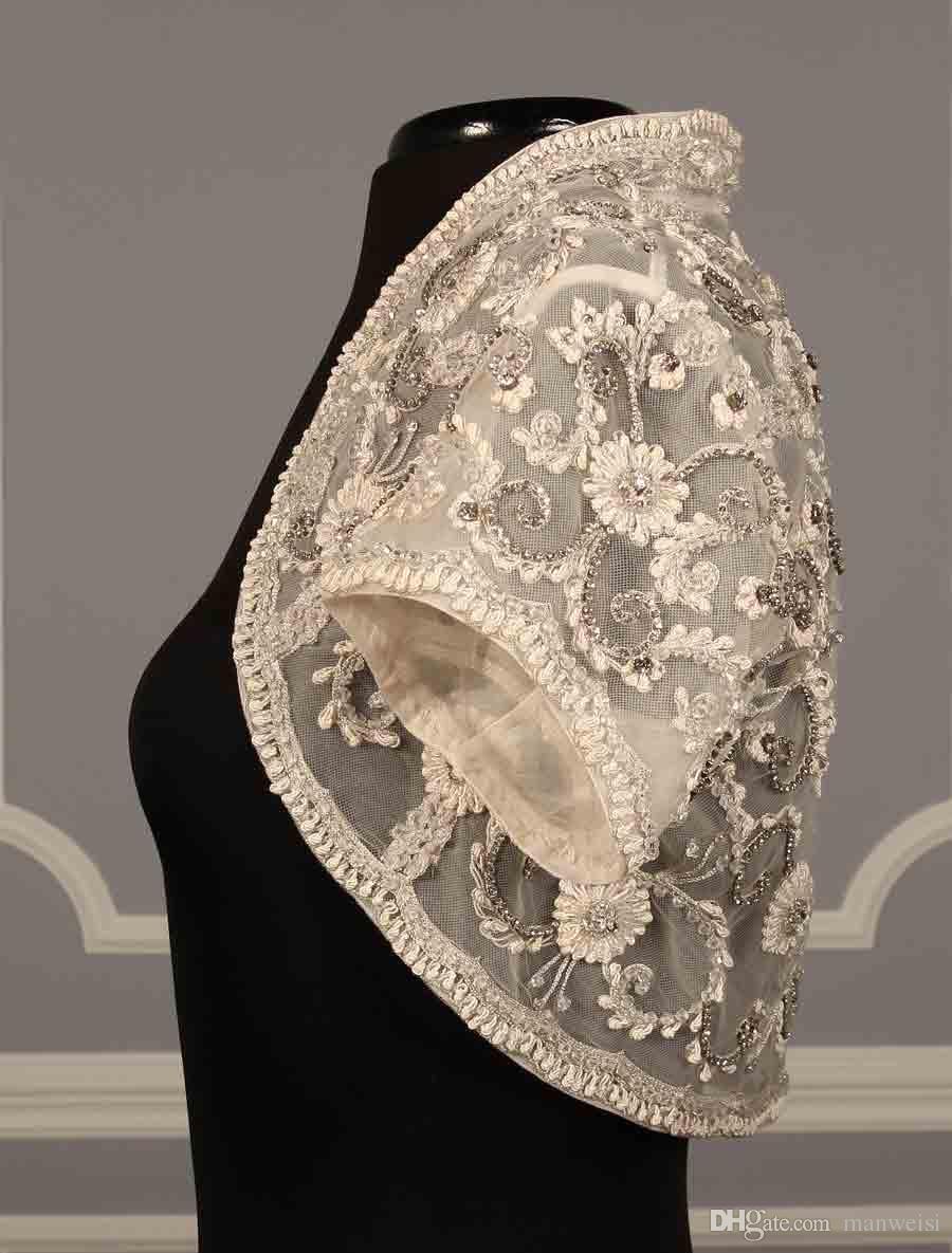 Real Image Bridal Jackets Lace Short sleeves Beads Bridal Coat Wedding Capes Wraps Cheap Bolero Jacket Wedding Dress Wraps Shrugs