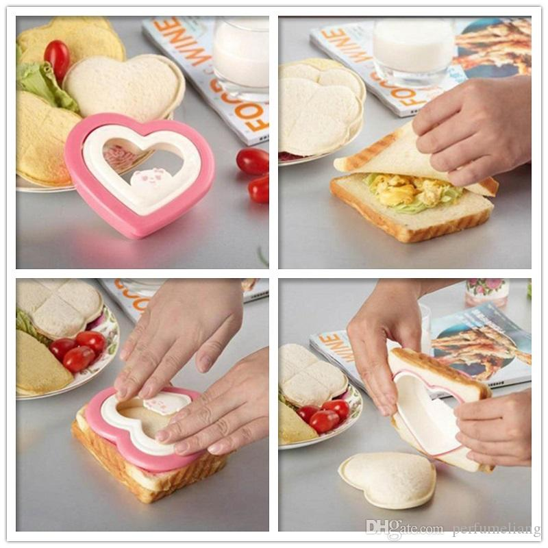 Bread Sandwich Modeling Mould DIY Heart Shape Pressing Mold for Cake Cookies Food Cutter Kitchen Tools ZA0912