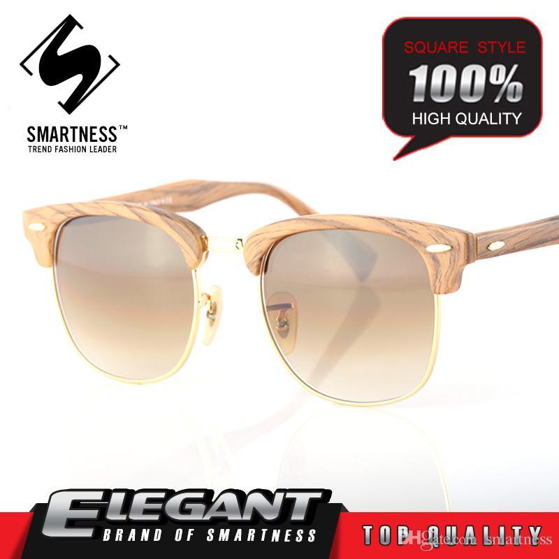 ac6c16612a99 2016 Retro Handmade Vintage Sport Eyewear For Men And Women 0003016 Glasses  Imitation Wood Grain Sunglasses Orologio Embedded Metal Sunglass Cheap ...