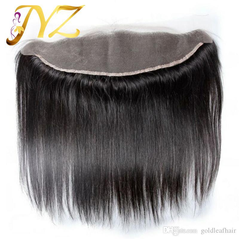 3 Stücke Peruanisches Reines Haar Gerade Mit Spitze Frontal 4 Stücke Los Gerade Reines Haar Spitze Frontal Verschluss Mit Bundles 100% Menschenhaar