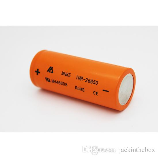 MNKE 26650 Battery 3500mah 60A Rechargeable IMR Rechargeable Batteries VS VTC5 VTC4 HE4 MJ1 Fedex Free Shipping