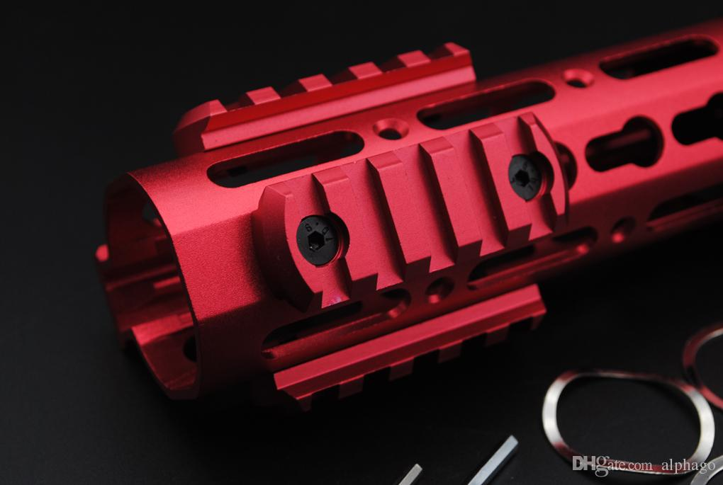 New Red 5,7,9,11,13 Slots Picatinny/Weaver Rail Sections for Key Mod Handguards