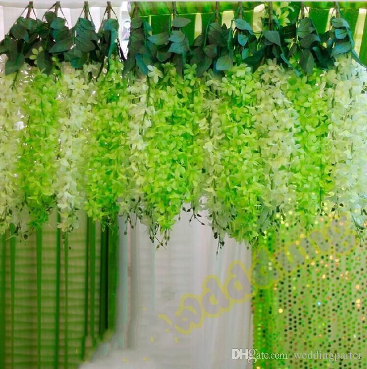 Elegant white artificial silk decorative flowers garland fake elegant white artificial silk decorative flowers garland fake hanging orchids plants vine for wedding backdrop party decoration supplies hanging orchids mightylinksfo