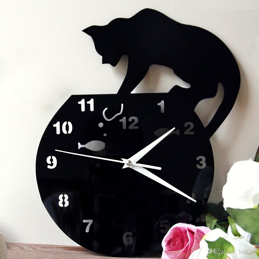 Compre Relojes De Pared Reloj De Pared De Acrílico Diy Reloj De ...