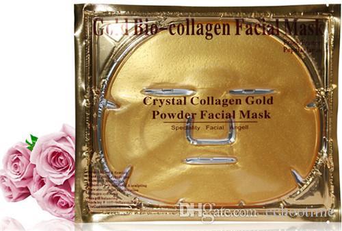 Echootime Gold Bio-Collagen Facial Mask Face Mask Crystal Gold Powder Collagen Facial Mask Peels Moisturizing