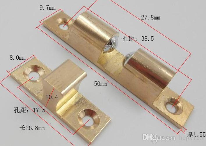 Porte de meubles tactile carte de cuivre perle magnétique porte cuisine clip magnétique Ambry poitrine touche 2 paquet