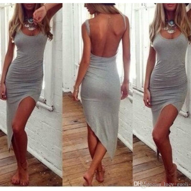 de8c13fd94 Sexy Party Dresses Women Evening Prom Club Dress Bodycon Backless Summer  Dress 2016 Vestido Casual Beach Cami Dress Resort Wear Vestidos Hot Women  Floral ...