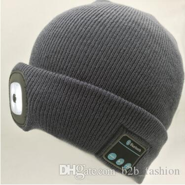 8c659fa04b9 Winter LED Beanies Rechargeable Music Hat Sports Beanie Knitted Cap Camping  Fishing Hat Unisex Bluetooth Beanies CCA7718 Beanie Kids Skull Caps From ...
