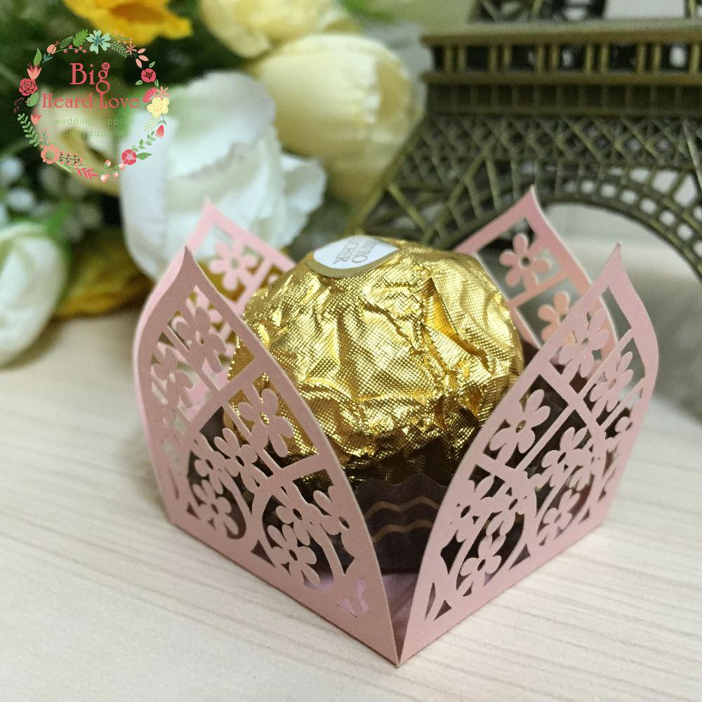 2018 Flower Cupcake Wrappers Candy Box Bar Wedding Favors And Gifts ...
