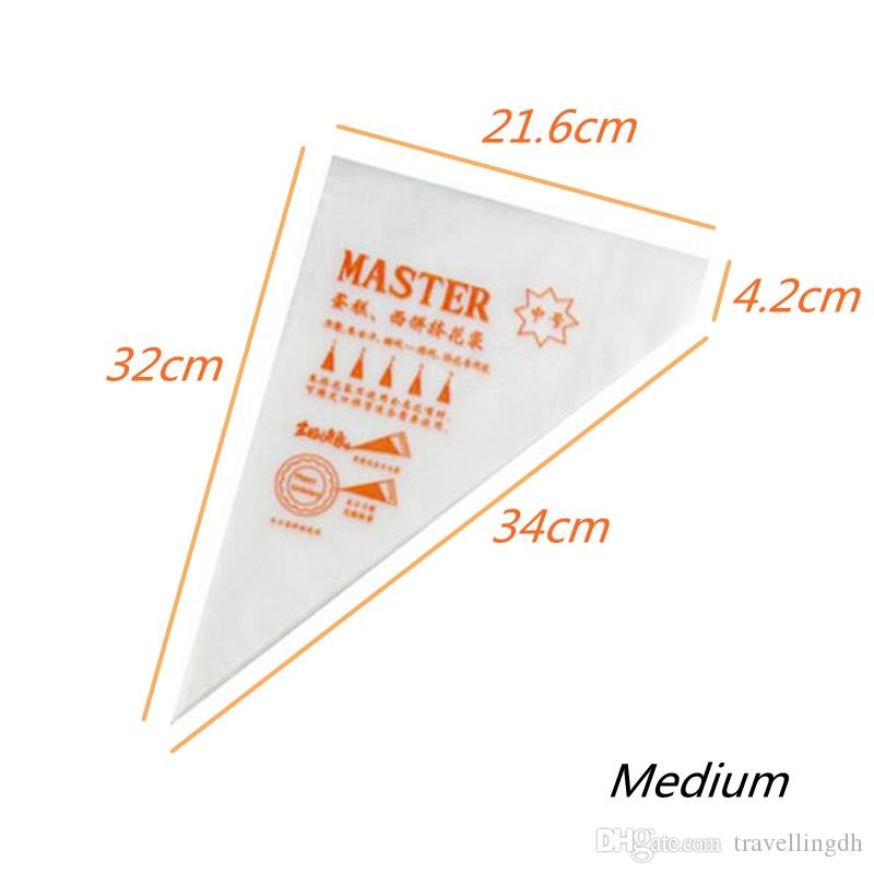 Disposable Pastry Bag Icing Piping Cake Pastry Cupcake Decorating Bags Fondant Cake Cream Pastry Tip Kitchen Baking Tool