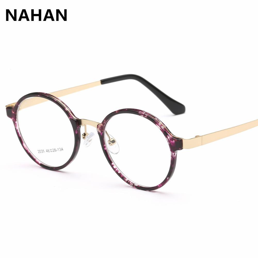 4c0562ad2e 2019 Wholesale Fashion Round TR90 Optical Prescription Glasses Frame Men  Women Clear Lens Plastic Titanium And Stainless Steel Eyewear Frame From  Huteng