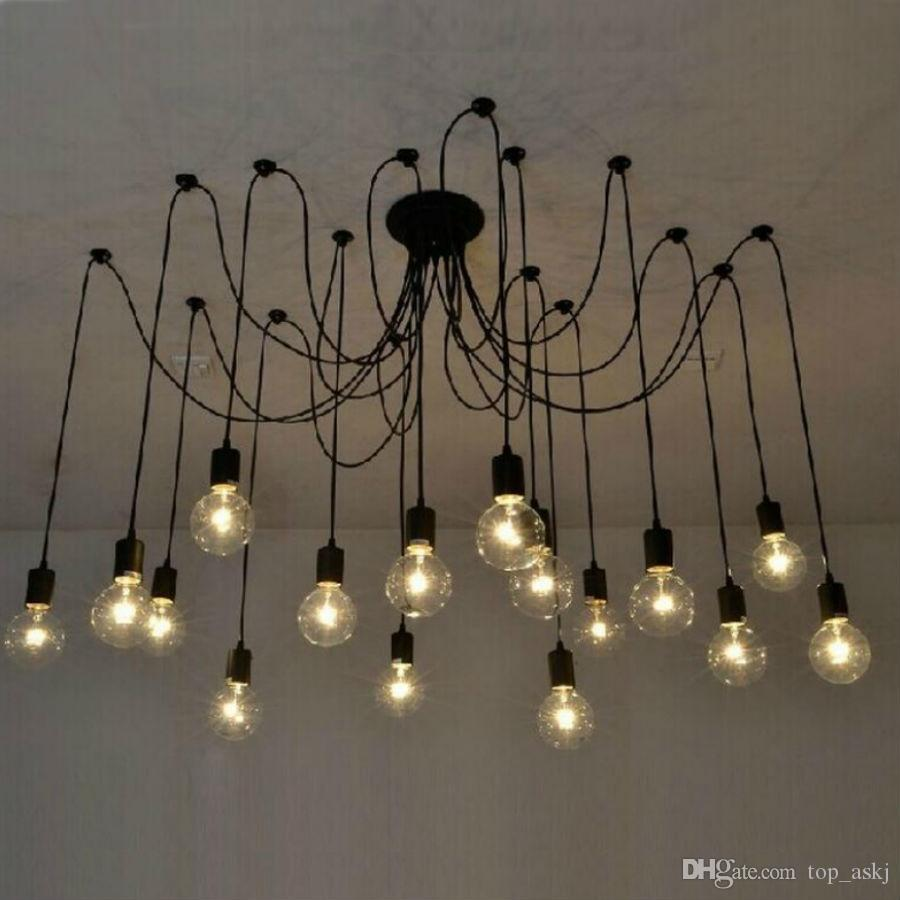 36810121416heads mordern nordic retro edison bulb light 36810121416heads mordern nordic retro edison bulb light industrial vintage pendant ceiling lamp edison pendant light bulb holder industrial pendant aloadofball Image collections