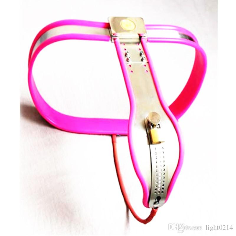 Stainless Steel Chastity Belt Adjustable Virginity Pants Chastity Device Anti-masturbation Shackles Pants Sex Toys for Woman G7-5-34