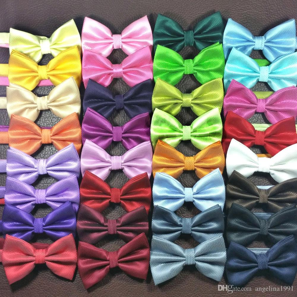 fashion Wedding Bow tie Party Men Women Solid Color Cravat Polyester Bowtie Male Dress Shirt gift