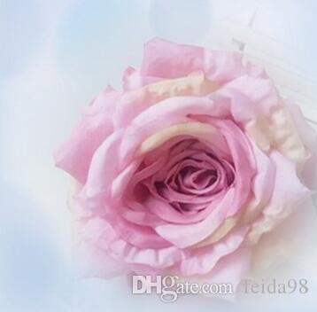 Simulazione di fascia alta fiore di seta rosa tessuto fiori falsi 13cm fai da te muro forniture di nozze spina