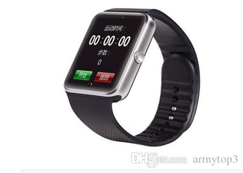 Beste Qualität Bluetooth Smart Watch GT08 für Android IOS iPhone Handgelenk tragen Unterstützung Sync SIM TF Karte Kamera Pedometer Schlaf Überwachung und ret