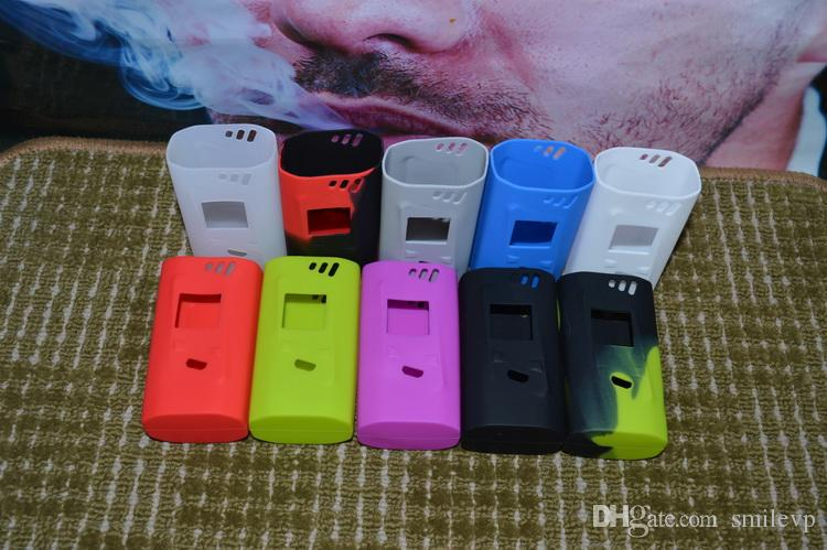 For Smok Alien 220w Silicone Case Colorful Rubber Sleeve Protective Cover Skin For SmokTech Alien 220W TC Box Mod Kit cover