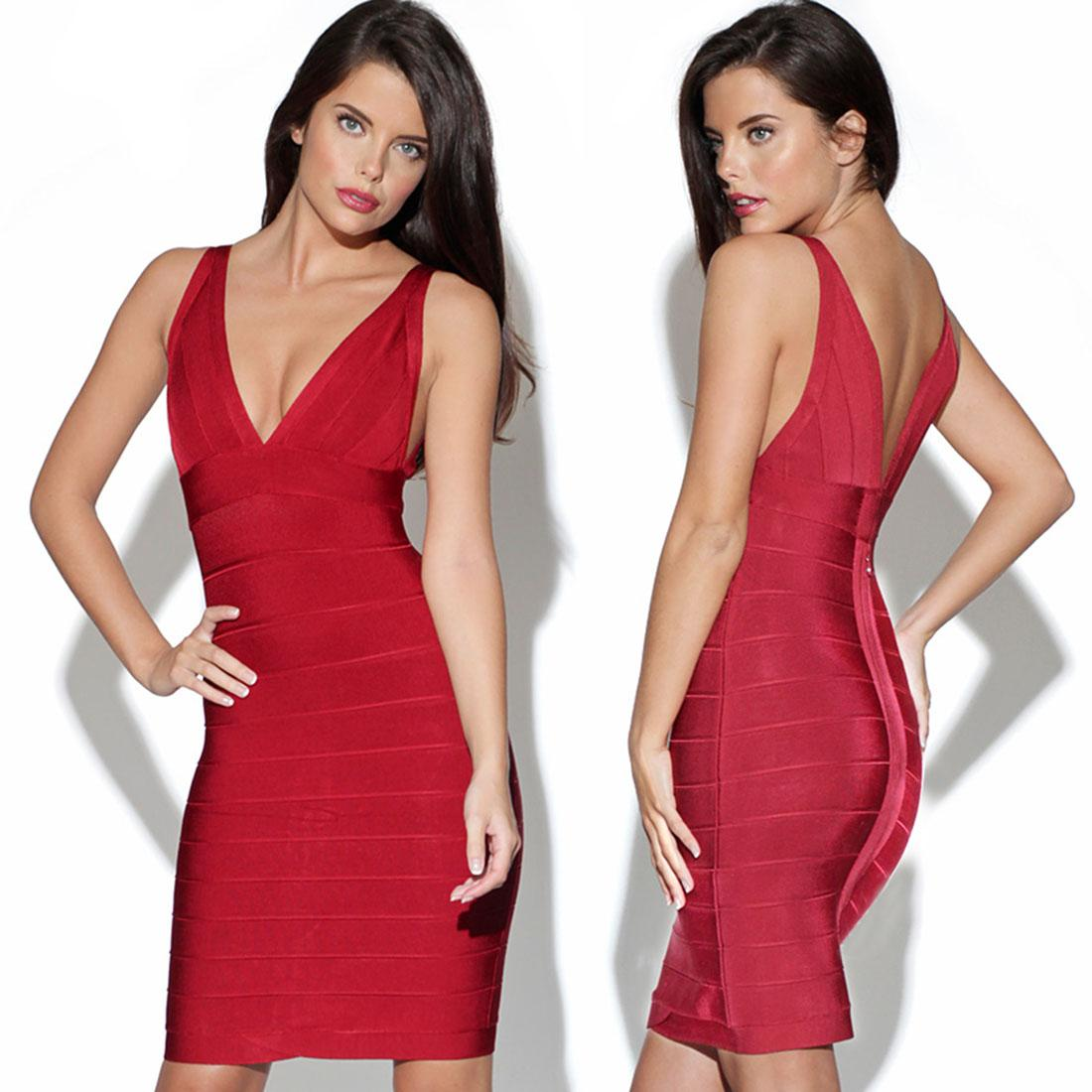 Wholesale Low Cut Sexy Womens Bodycon Dress Cocktail Party Bandage ...