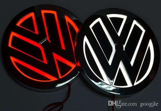 5D led 자동차 로고 램프 110mm VW 골프 MAGOTAN Scirocco Tiguan CC BORA 자동차 배지 LED 기호 램프 자동 후면 엠 블 럼 빛