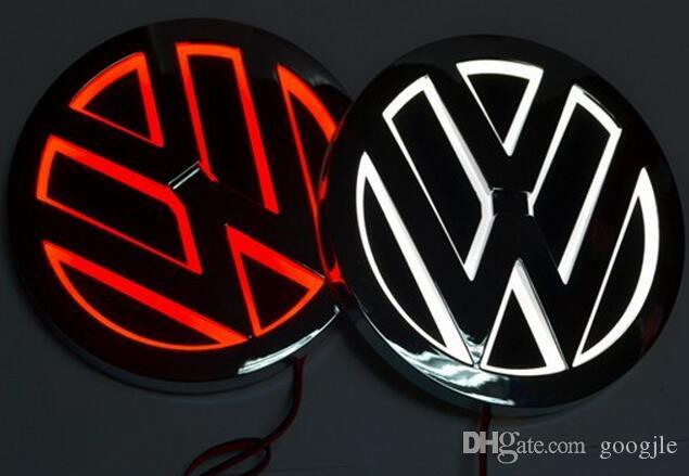 5D LED Auto Logo Lampe 110mm für VW GOLF MAGOTAN Scirocco Tiguan CC BORA Auto Abzeichen LED Symbole Lampe Auto hinten Emblem Licht