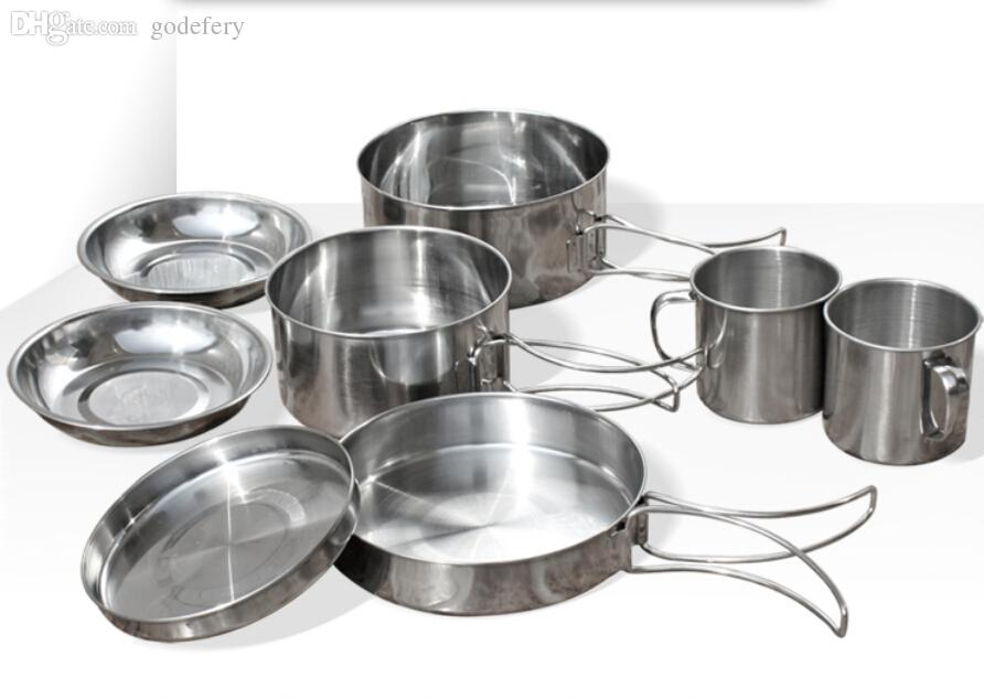 Wholesale 2015 New Stainless Steel Cubiertos Camping Pots Picnic ...