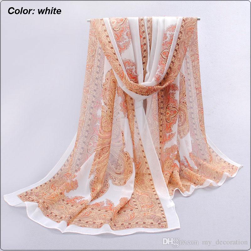 Mode Folk Square Long Echarpe Sandp Tinçon à tricoter Écharpe Foulard Pashmina Mousseline de soie Soie Toutes les saisons 'Convient