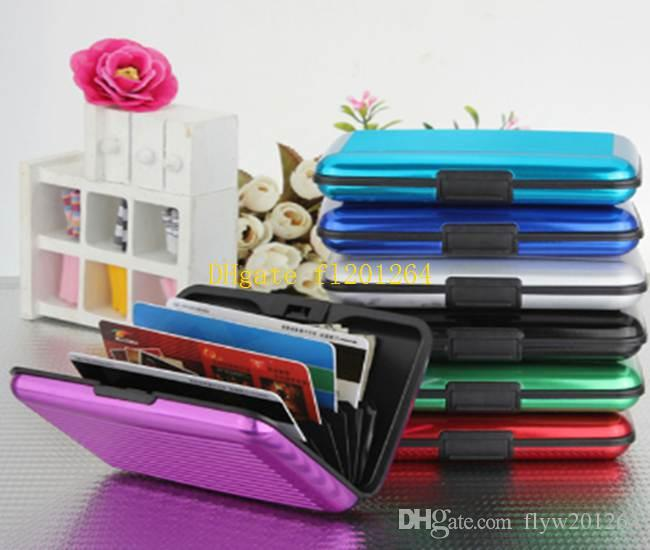 2015 New Waterproof Fashion Aluminum Card Holder Package Business ID Credit Card Wallet Case Pocket Purse