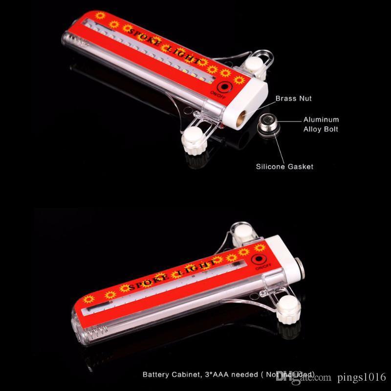 1 unids Colorido Bicicleta Luz Carretera de Montaña Bicicleta luces LEDS Llanta Neumático Tapas de Válvula Rueda 32 LED Radios Luz LED Sin batería