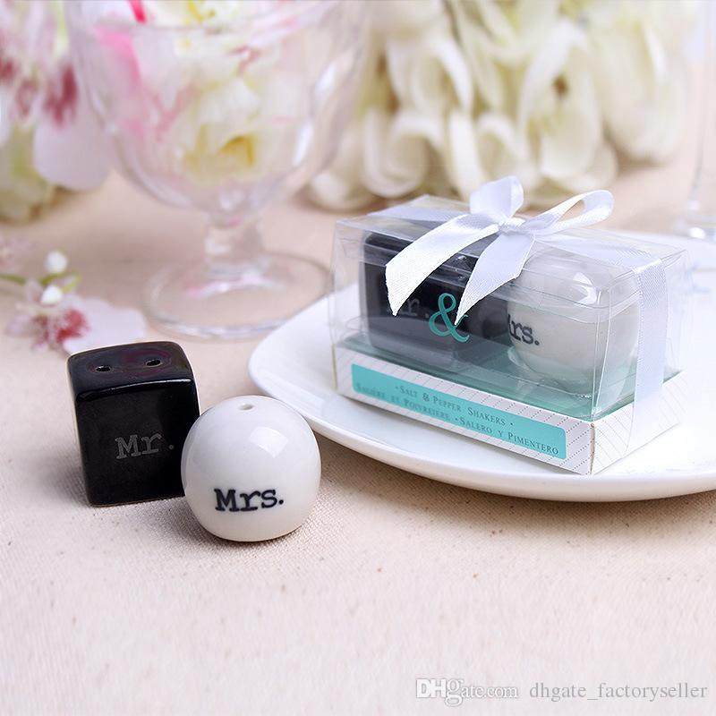 Куб цилиндр Керамический г-н г-жа соль и перец шейкеры белый черный шейкер кухня инструменты партия выступает в пользу свадьбы подарок 100 компл. 2 шт./компл.