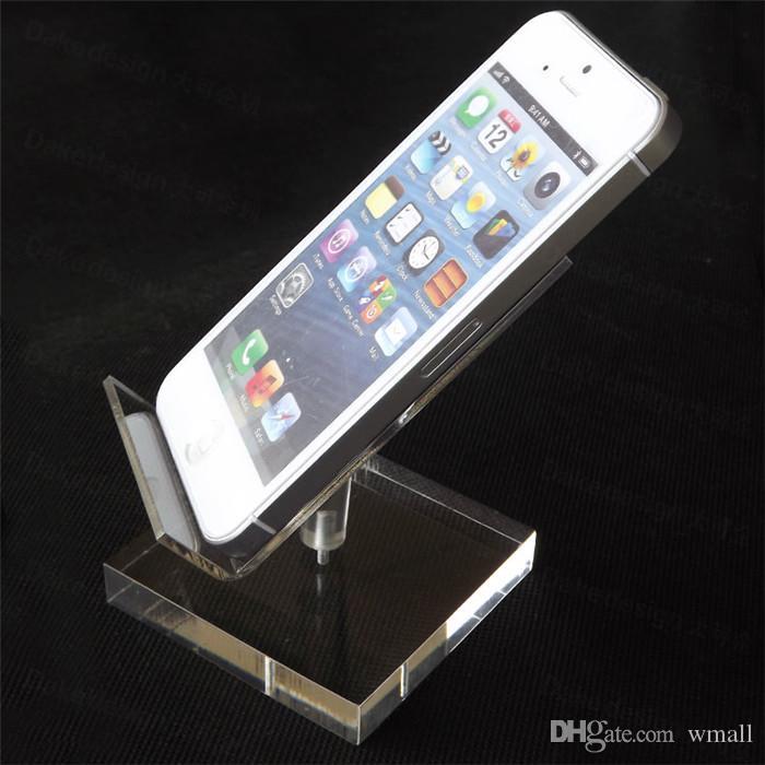 Titulares de Telefone celular Titulares 4G widescreen de alta qualidade acrílico titular do telefone móvel iphone 5s 6 6 s titular prateleira de exposição do telefone celular