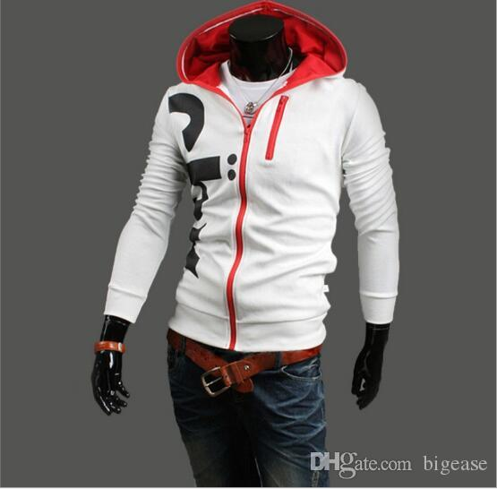 2017 South Korean style fashion personalized hooded letter printing hoody coat oversize men clothing wholesale