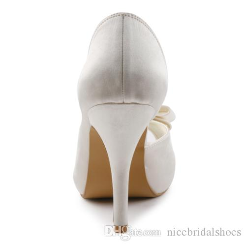Cheap Nice Satin delicate style Wedding Shoes Custom Made 10 cm High Heel Bridal Shoes Party Prom Women Shoes