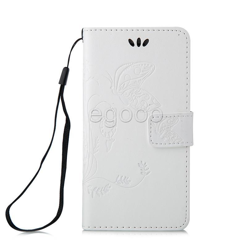 Mariposa en relieve Bolso Funda de cartulina Tarjetas de inserción Funda de cuero para Samsung S6 S7 Edge Plus J1 ACE S3 S4 S5 Mini