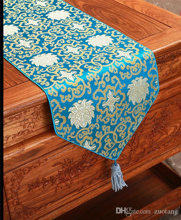 Extra Long 120 Inch Silk Brocade Table Runner Vintage Dining Table Cloth  High End Table Protect Pads Decorative Bed Runner 300 X 33cm Buy Table  Linens ...