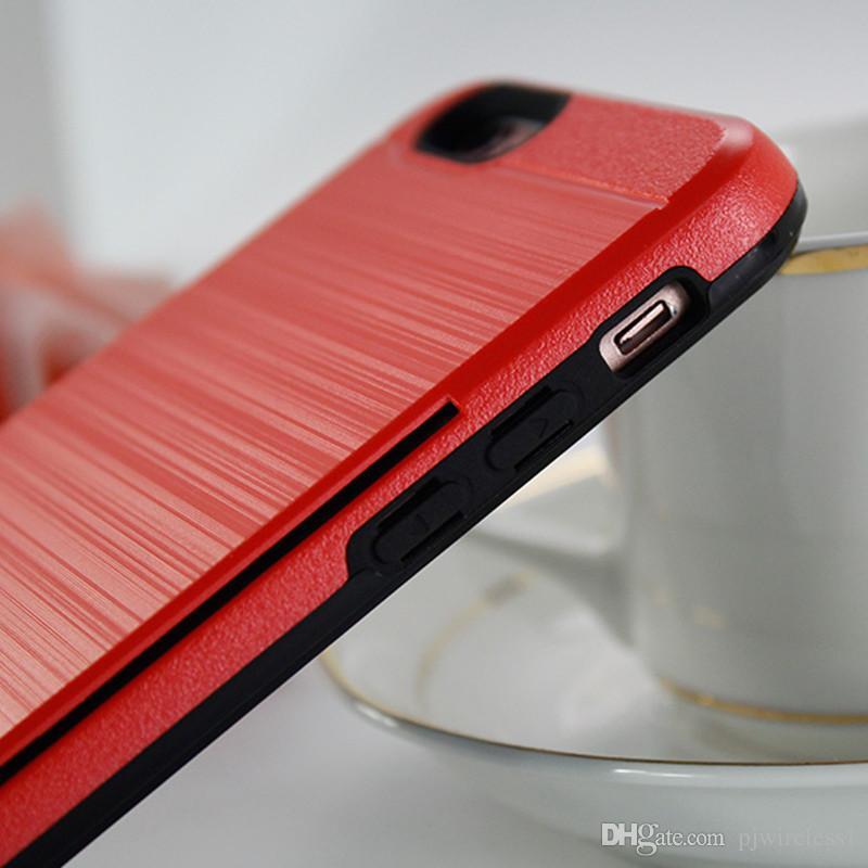 Гибридная броня для iphone X для iphone 8 plus для samsung galaxy note 8 Alcatel A30 Fierce MetroPCS слот для кредитной карты Case C