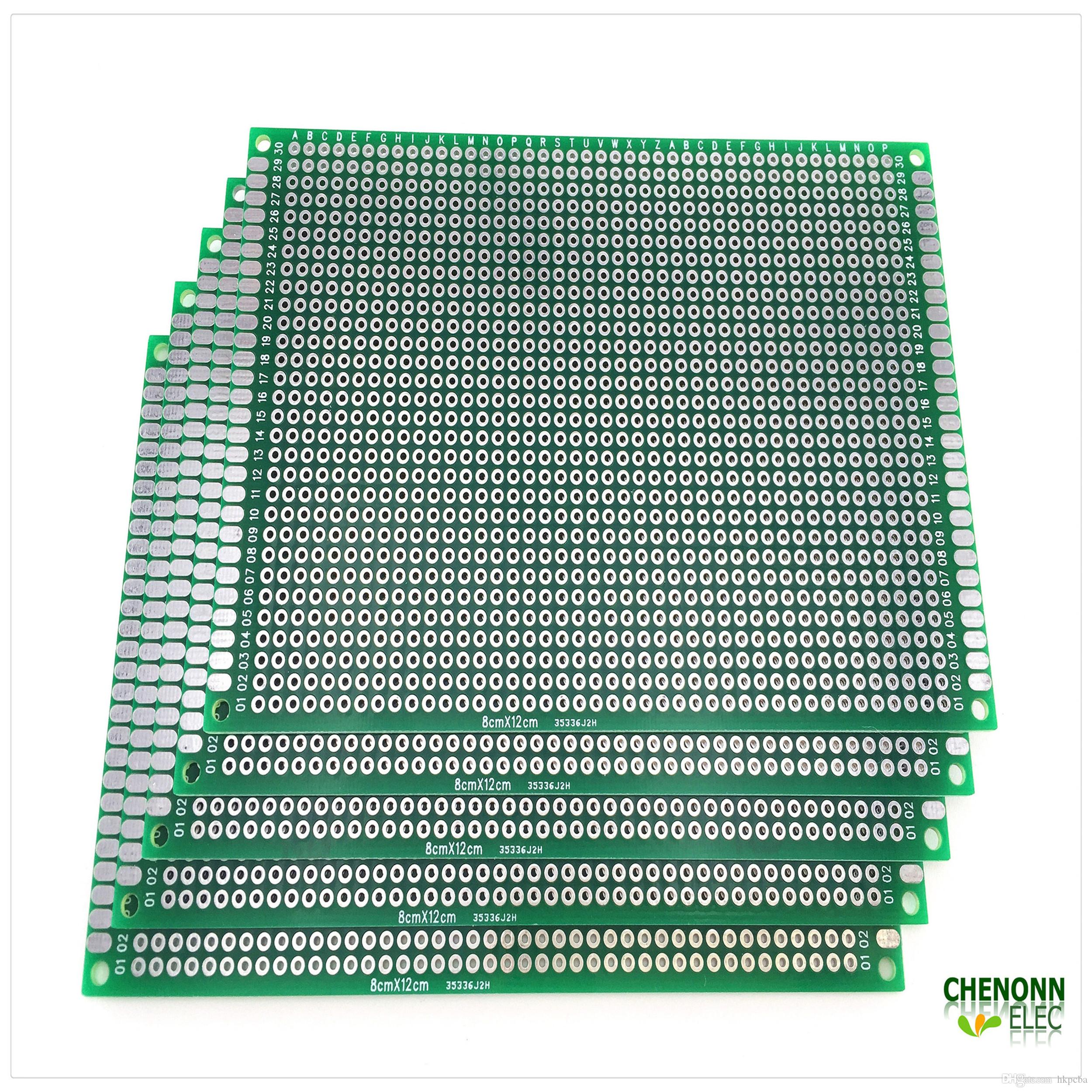 2019 Breadboard 8cm12cm Double Sided Pcb Universal High Diy Circuit Board Etching Free Shipping 5 Pieces Lot Quanlity For User
