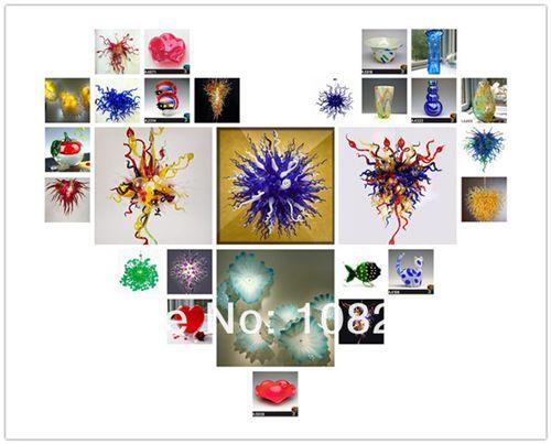 Livraison gratuite Air 100% soufflé bouche en verre de Murano Art Best Seller Rouge Mini à bas prix en verre de Murano Lustre