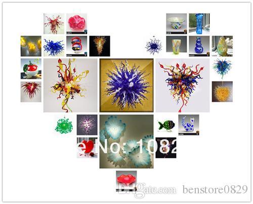 LR968-100% Lámpara de vidrio soplado de boca soplada, Arte de Murano Lámpara de venta caliente, Iluminación moderna Lámpara de cristal de Murano colorida para fiesta