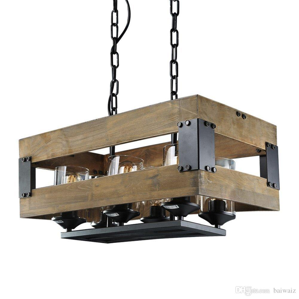 Rustic Ceiling Light Rustic Light Fixture Rustic Wood: Discount Rustic 6 Lights Kitchen Lamp, Wooden Island