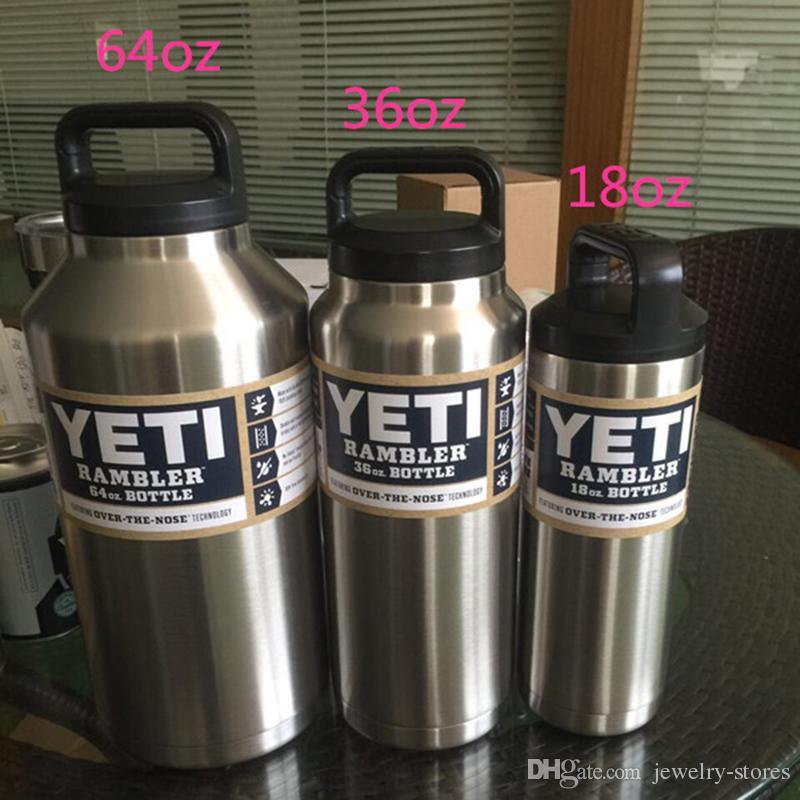 Yeti Rambler Bottles 18oz 36 Oz 64 Oz Large Capacity