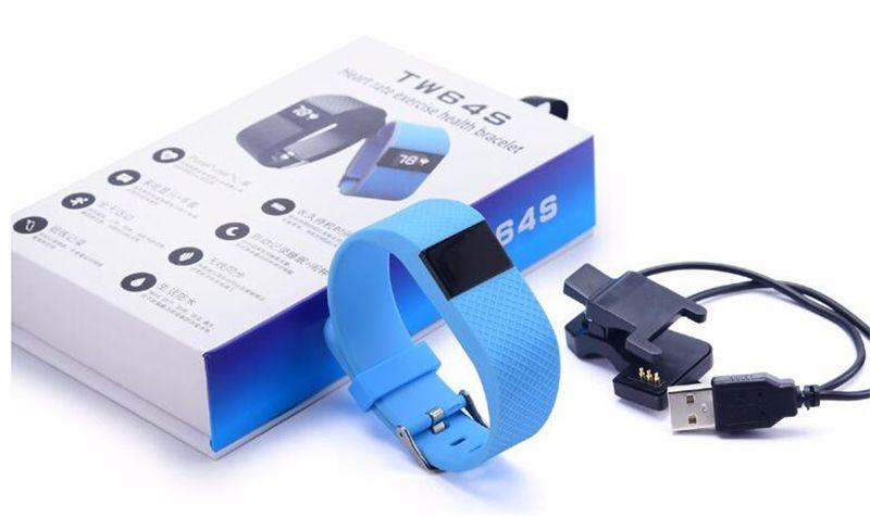 TW64S Bluetooth 4.0 смарт браслет смарт-группа IP67 монитор сердечного ритма браслет Фитнес-трекер для Android iOS xiaomi mi 5