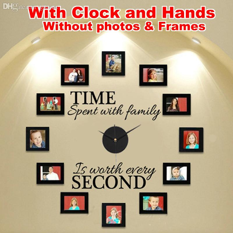 Wholesale Wall Clock Diy Modern Design With Clock And Hands Time ...